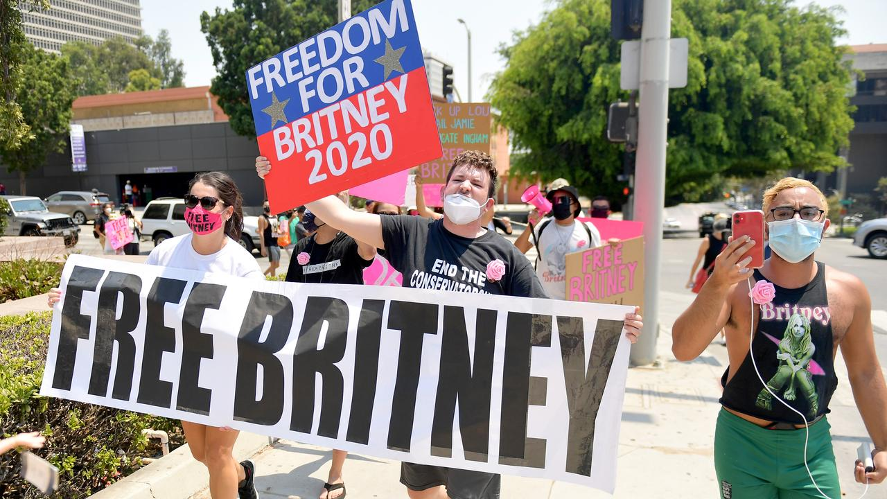 The 'Free Britney' movement is trying to end her conservatorship. Picture: Matt Winkelmeyer/Getty Images.