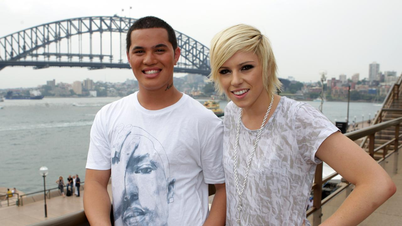Stan Walker – pictured here with Idol runner-up Hayley Warner – only heard his debut album the day before it hit stores.