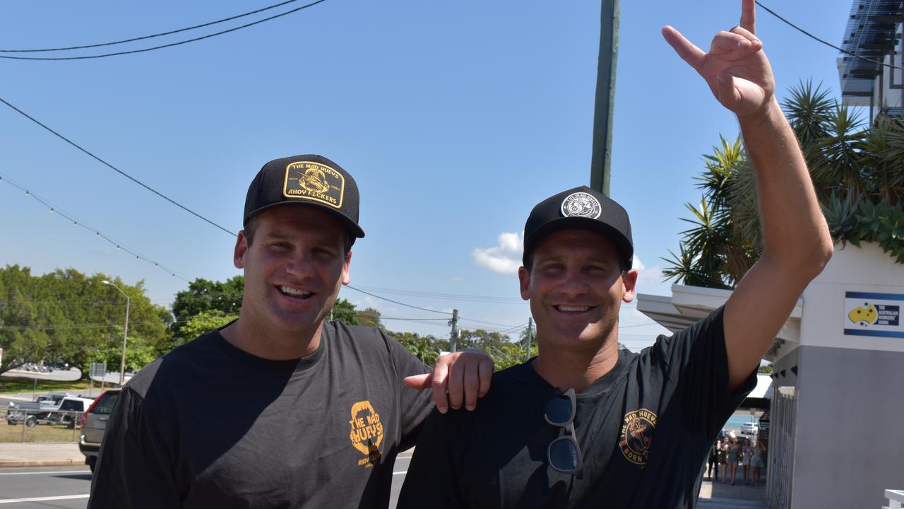 The Mad Hueys' Shaun and Dean Harrington at Last Wave Surf Shop on October 10, 2020.