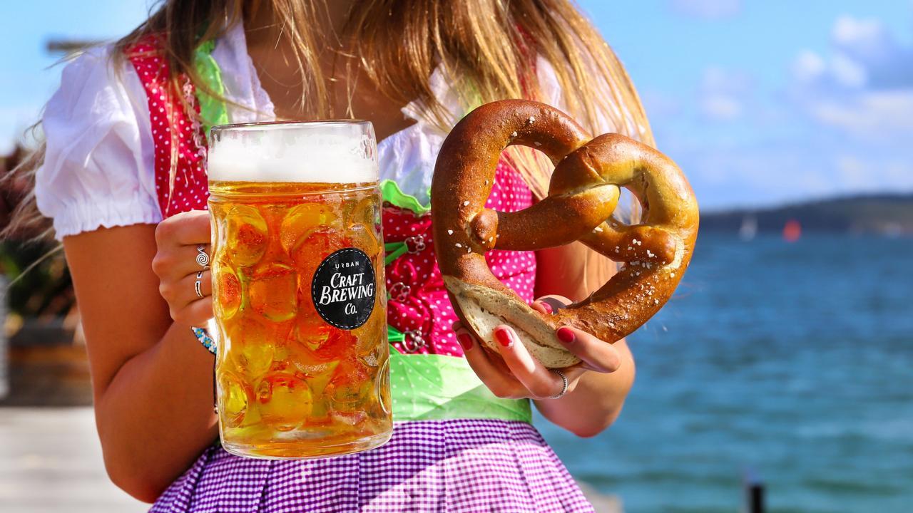Enjoy a beer and pretzel at The Bavarian. Picture: Jenifer Jagielski