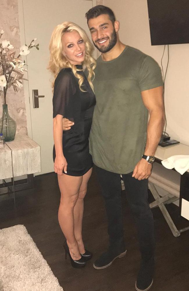 Britney with boyfriend Sam Asghari. Picture: Britney Spears/Instagram.