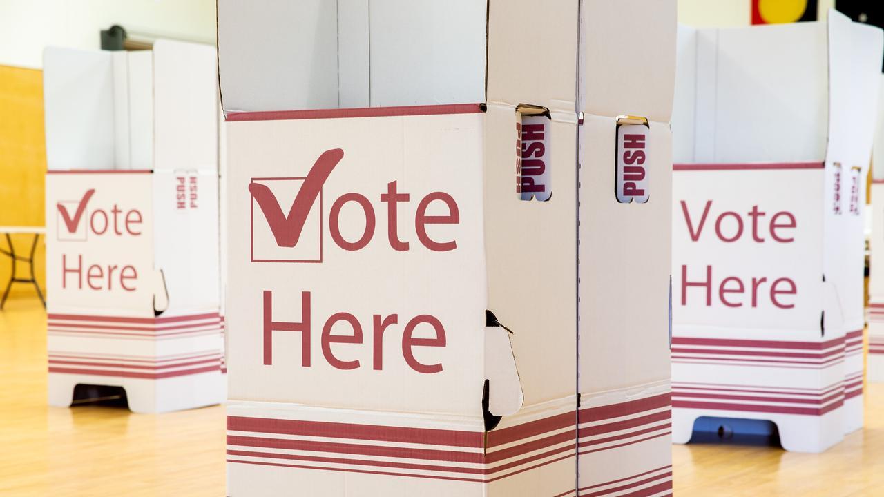 Voting booths. (AAP Image/Richard Walker)