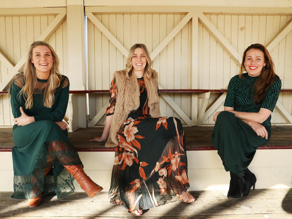 Buy From the Bush founder Grace Brennan, centre, joined The Daily Telegraph's 2020 Bush Summit in Cooma, NSW. Pictured with Jane Cay and Jillian Kilby. Picture: Rohan Kelly.