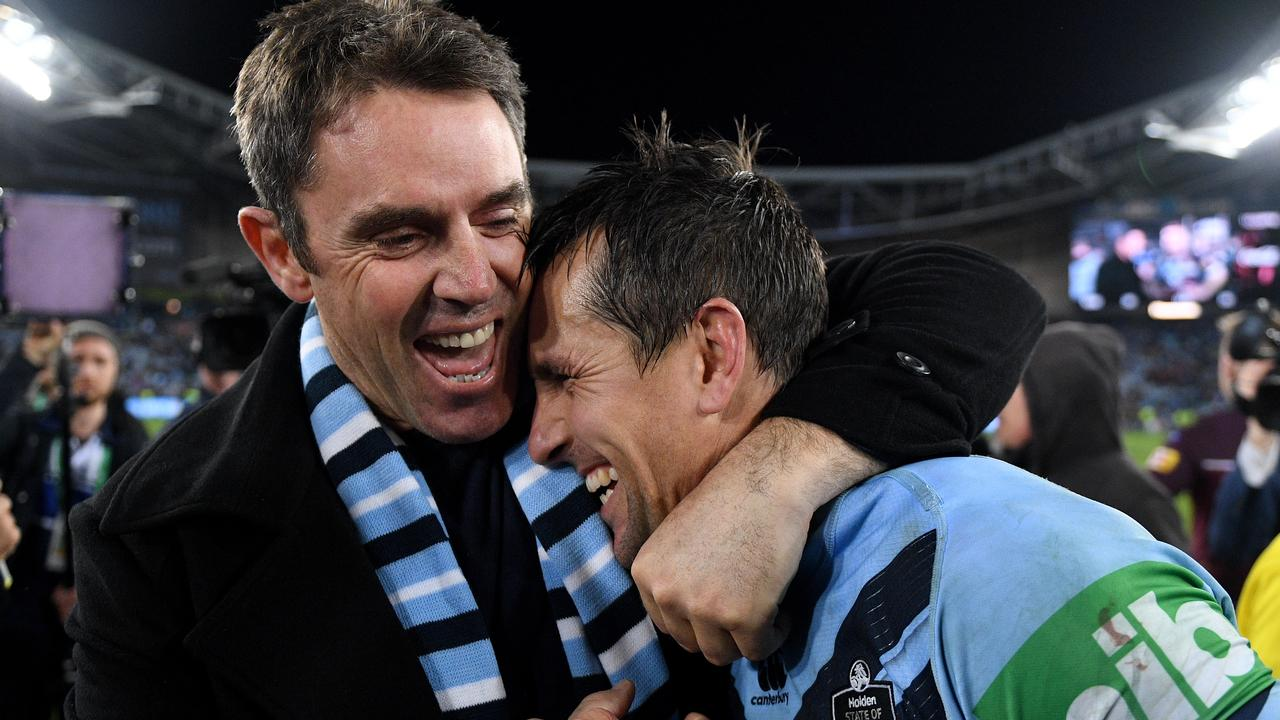 NSW Blues coach Brad Fittler (left) isn't afraid to make tough calls.
