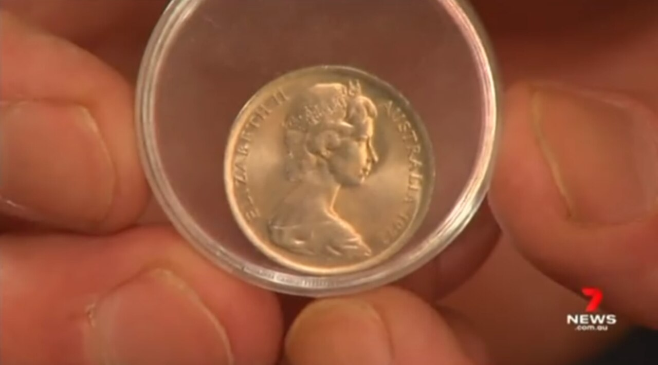 This 5c piece from 1972 could fetch up to $200. Credit: 7 News