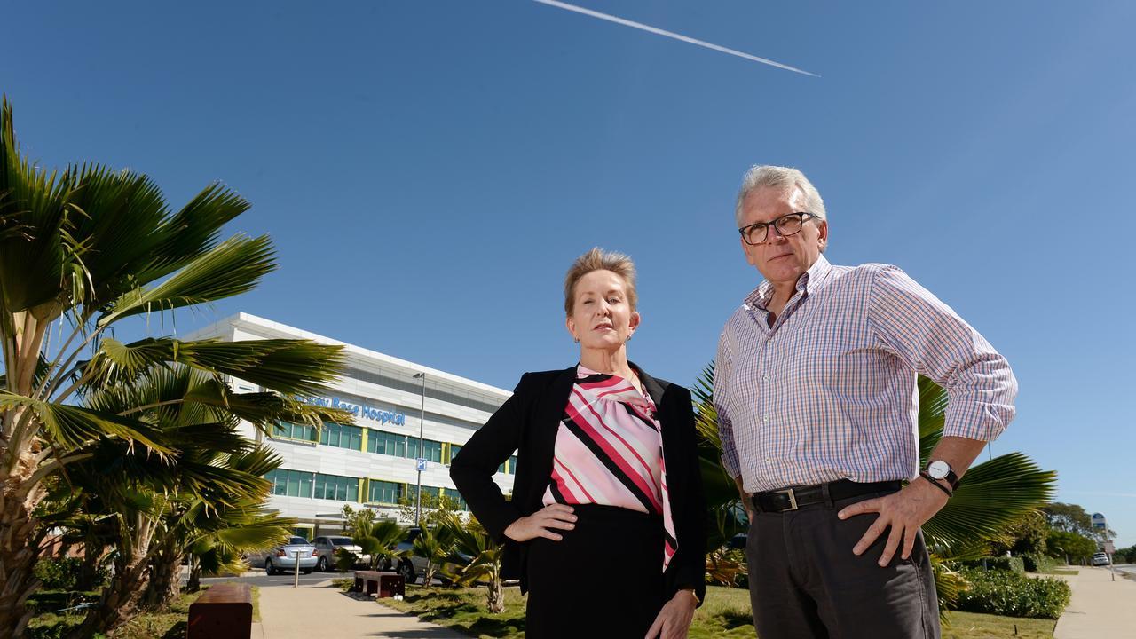 LNP Shadow Health Minister Ros Bates and Caloundra MP Mark McArdle.