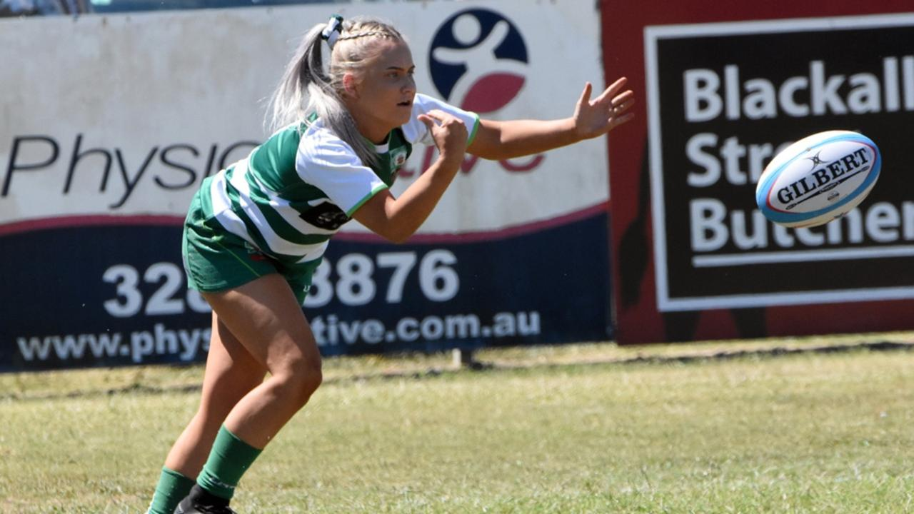 Action from the qualifying women's rugby final between Ipswich Rangers and Redlands at Woodend Park. Picture: Gary Reid