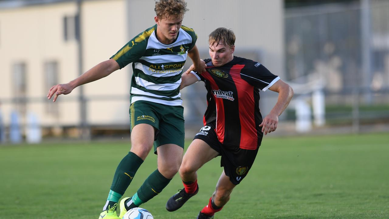 Western Pride striker Jackson Bray scored two goals in a game for the second week in a row. Picture: Rob Williams