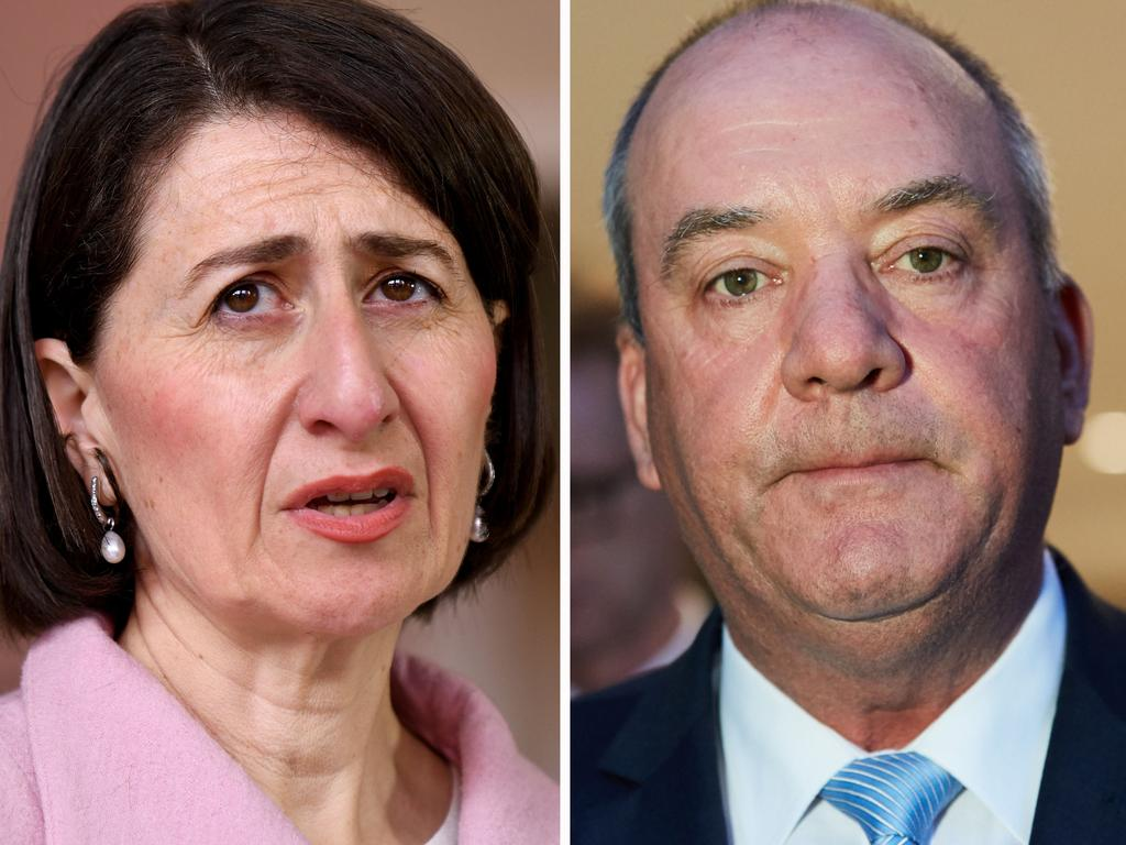 Gladys Berejiklian and Daryl Maguire. Picture: Newswire; AAP