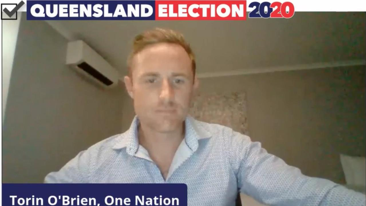 One Nation's candidate for Rockhampton Torin O'Brien.