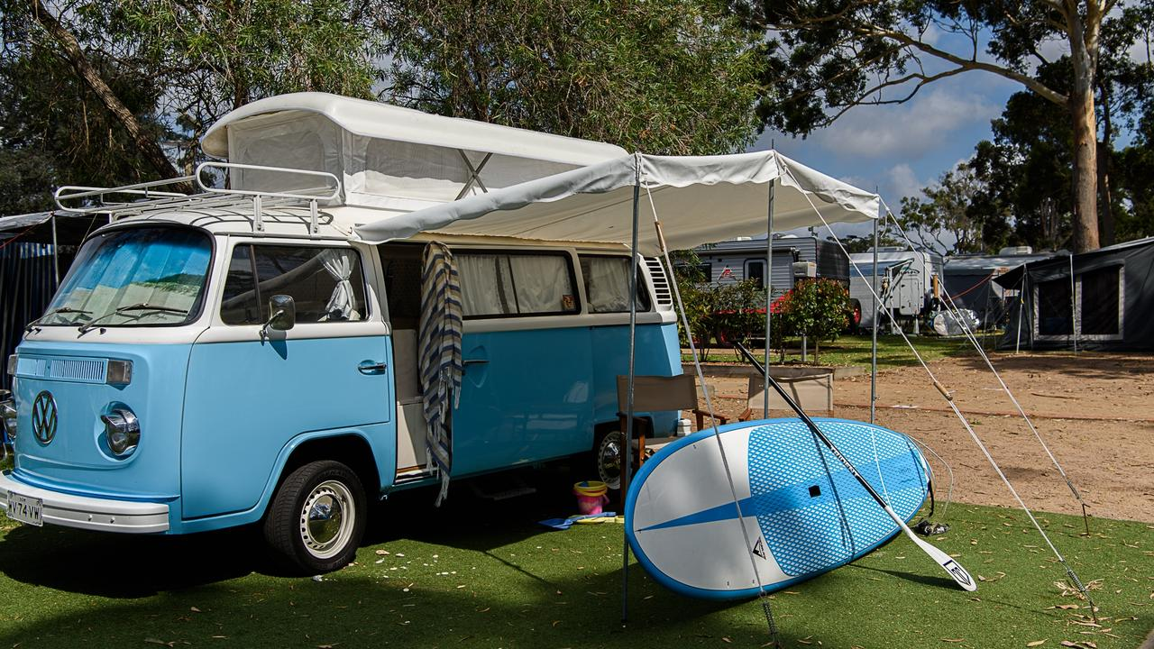 A kombi van with extras available for rent on Camplify.