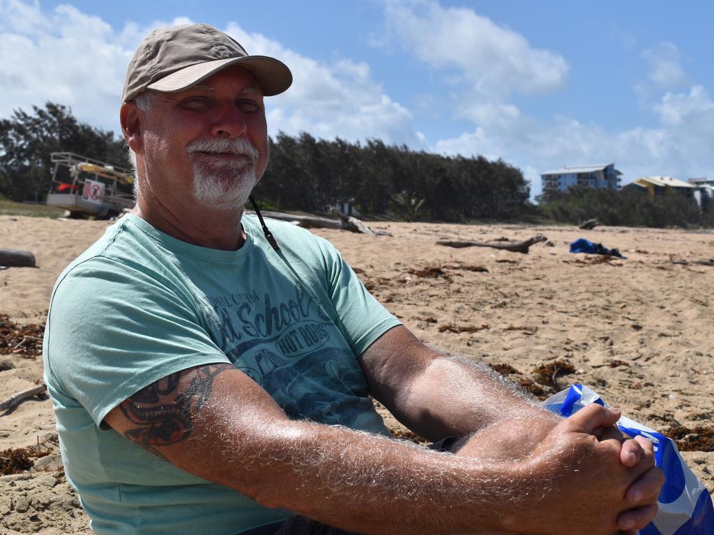 Jeff Brown at Harbour Beach, Mackay. Picture: Heidi Petith