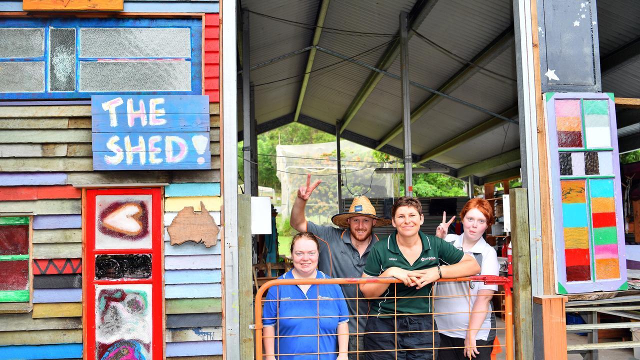 Tohbias Davenport, Levi Mannix, Genna Best and Beth Amey at The Compass Farm in Hunchy. Photo: John McCutcheon.