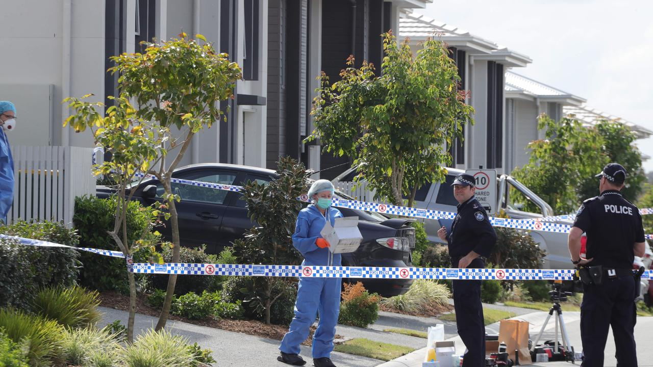 The crime scene at Pimpama. Picture Glenn Hampson.