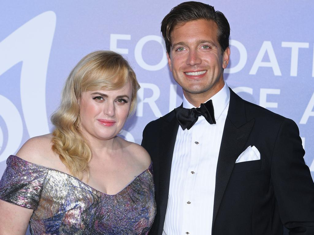 Rebel Wilson and Jacob Busch at the Monte-Carlo Gala For Planetary Health on September 24 in Monte-Carlo, Monaco. Picture: Pascal Le Segretain/Getty Images for La Fondation Prince Albert II de Monaco