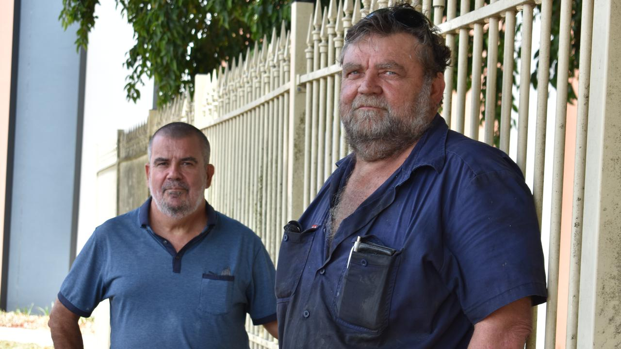 Mackay transport workers Mark Ryman and Brian Ward. Picture: Melanie Whiting