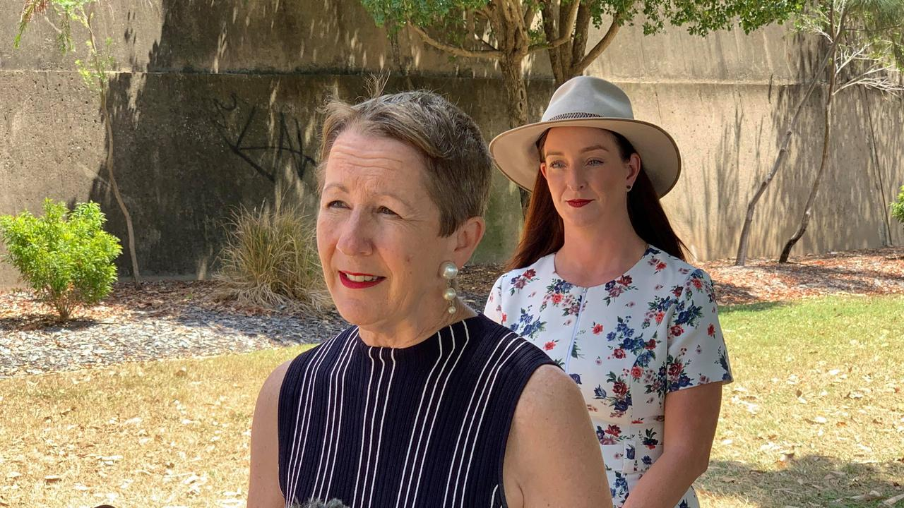 HARDSHIP ASSISTANCE: Minister for Child Safety, Youth and Minister for the Prevention of Domestic and Family Violence, Di Farmer joined Keppel MP Brittany Lauga in Rockhampton to announce $6.2 million in further Emergency Relief Funding to be provided to Queenslanders.