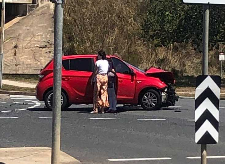 PARAMEDICS are on their way to a two-vehicle crash in Gladstone Central.