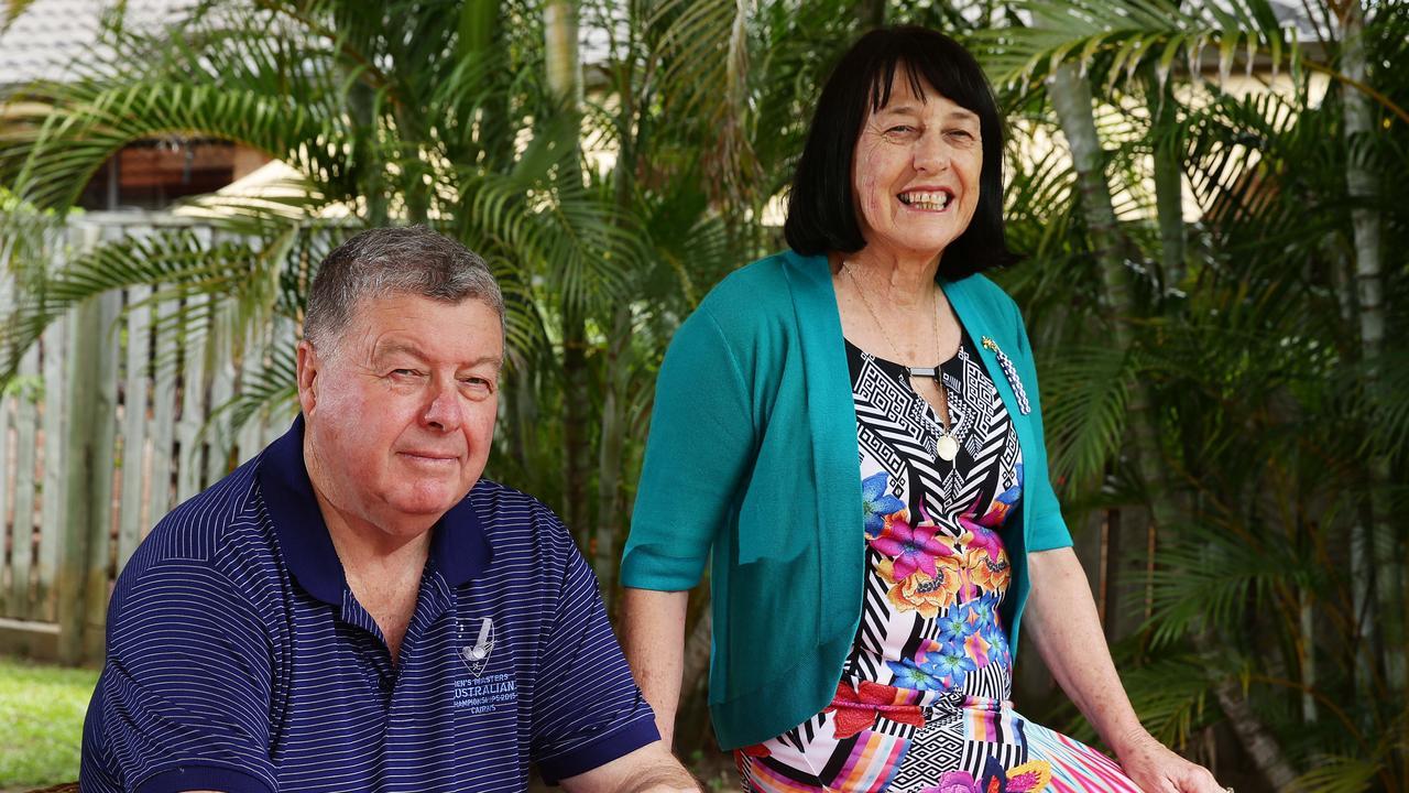 Senior Constable Brett Forte's parents Stuart and Heather Forte.