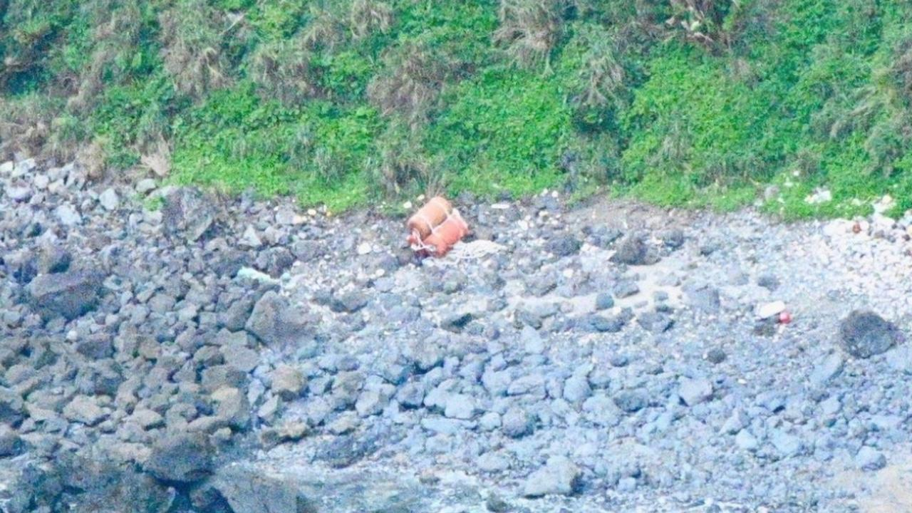 A buoy or buffer washed up on Amami Oshima. Picture: SUPPLIED