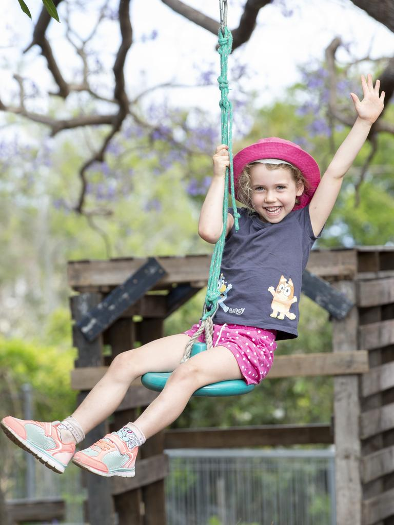 Sophie Sligo has loved her time at the Everton Park Child Care and Development Centre, one of just eight centres in Queensland rated 'excellent'. Picture: Renae Droop