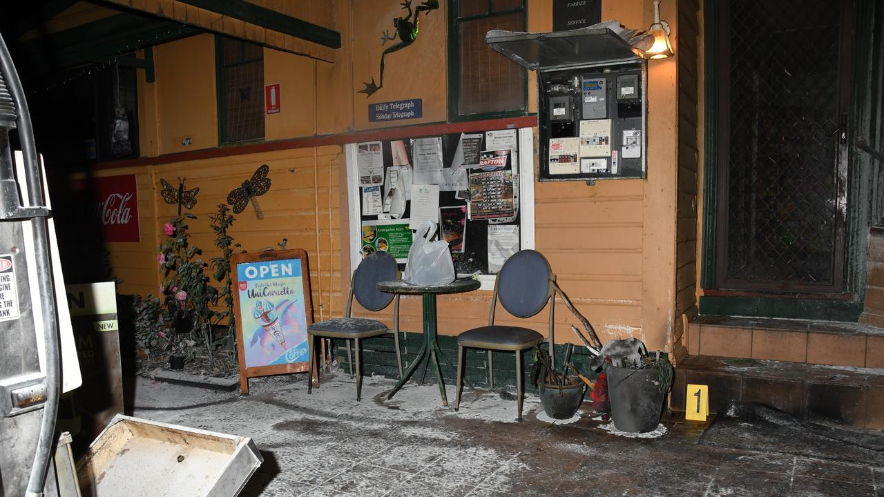 The crime scene at Lowanna General Store. Photo: NSW Police Force
