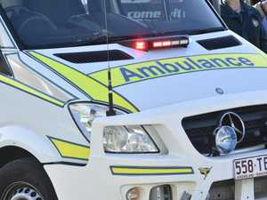 Man taken to hospital after car and bicycle crash