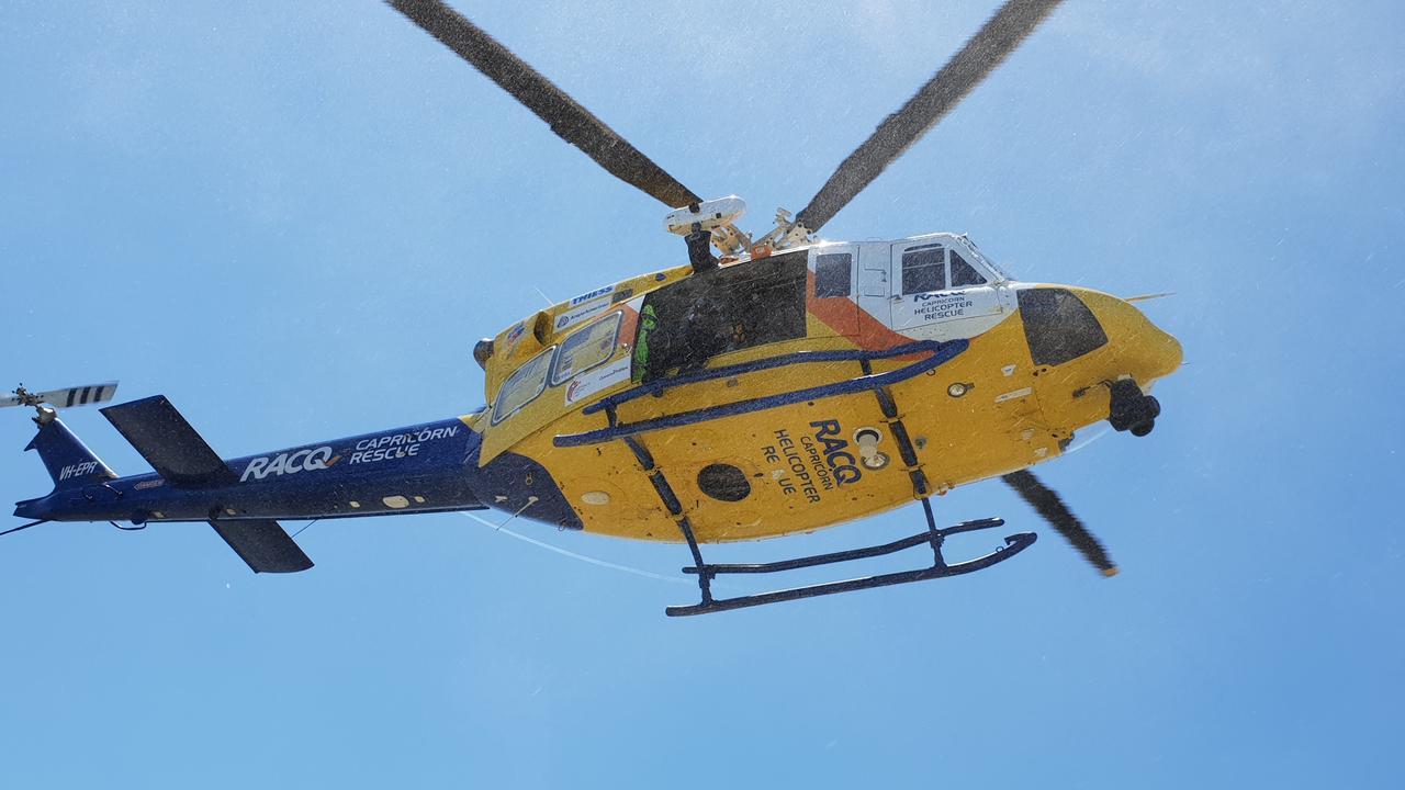 RACQ Capricorn Rescue performing training practices.