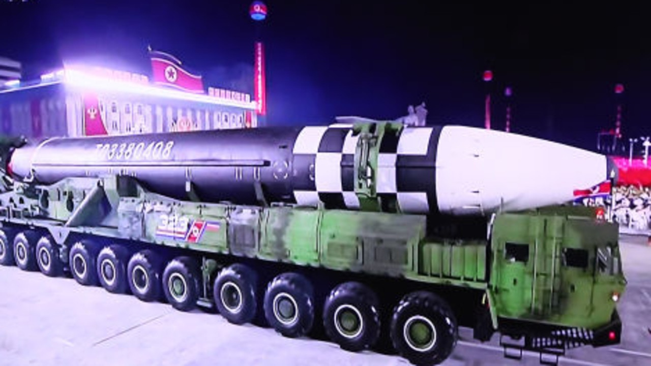 "The ""monster"" missile needs a huge 11-axle truck to carry it. Picture: Chung Sung-Jun / Getty Images"