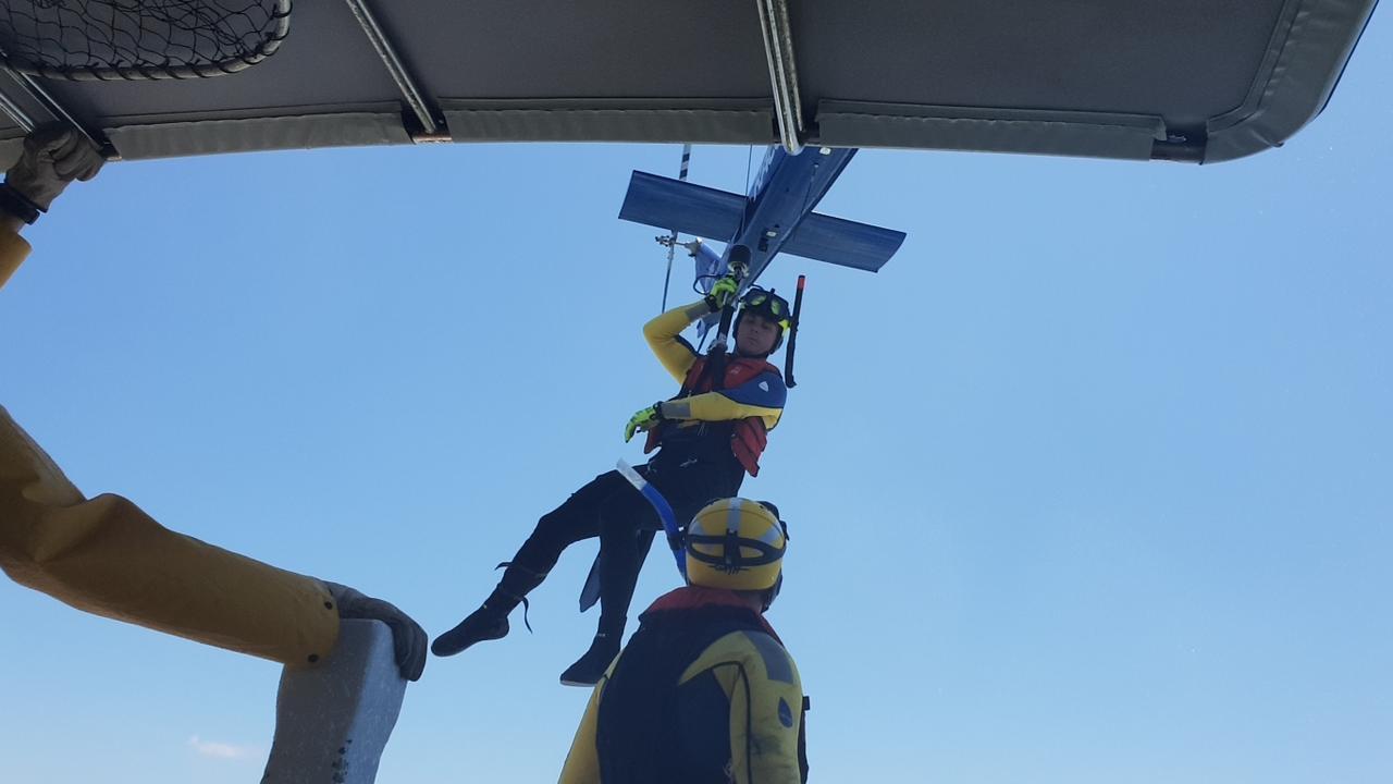 RACQ Capricorn Rescue crews undertake training this past weekend.