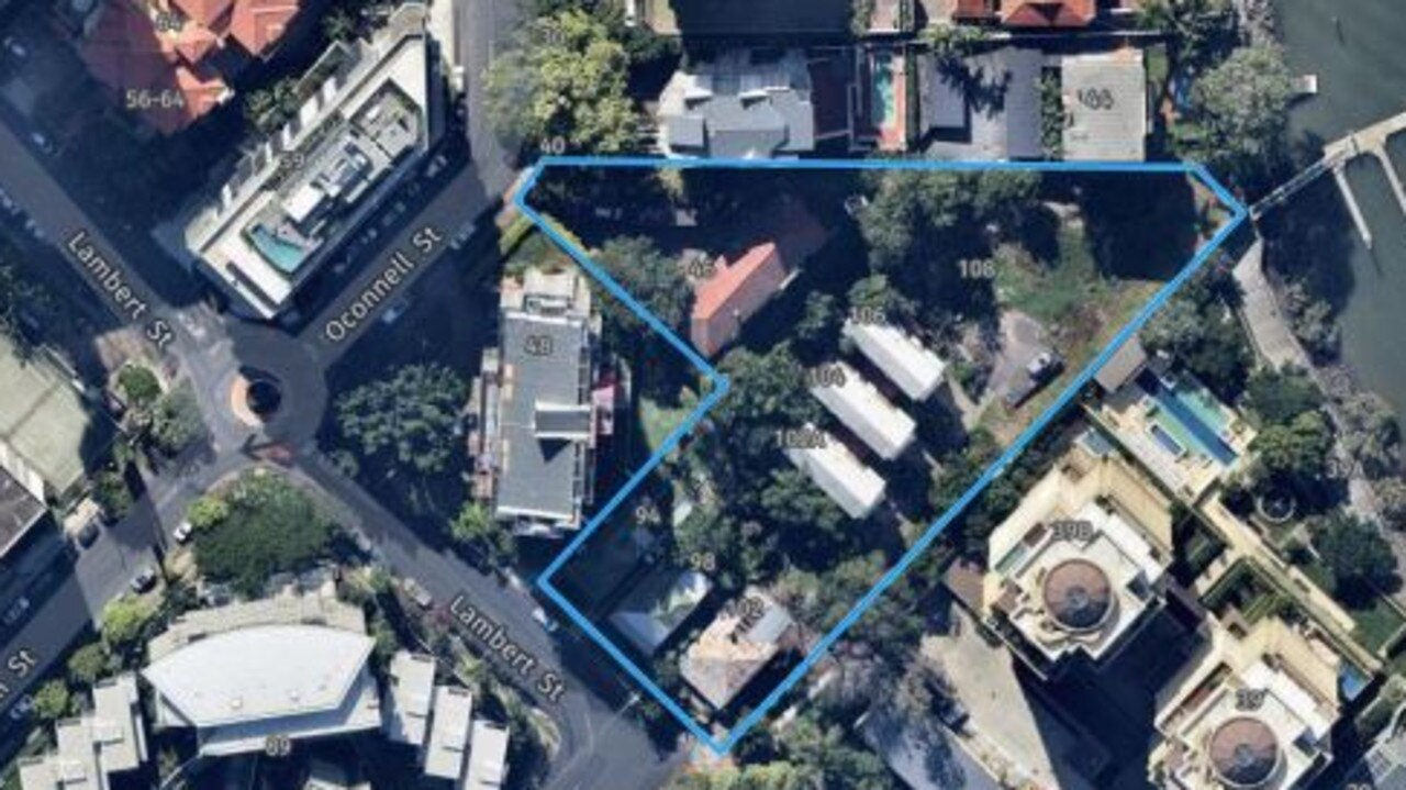 The proposed development site ​for three 15-storey towers in Kangaroo Point