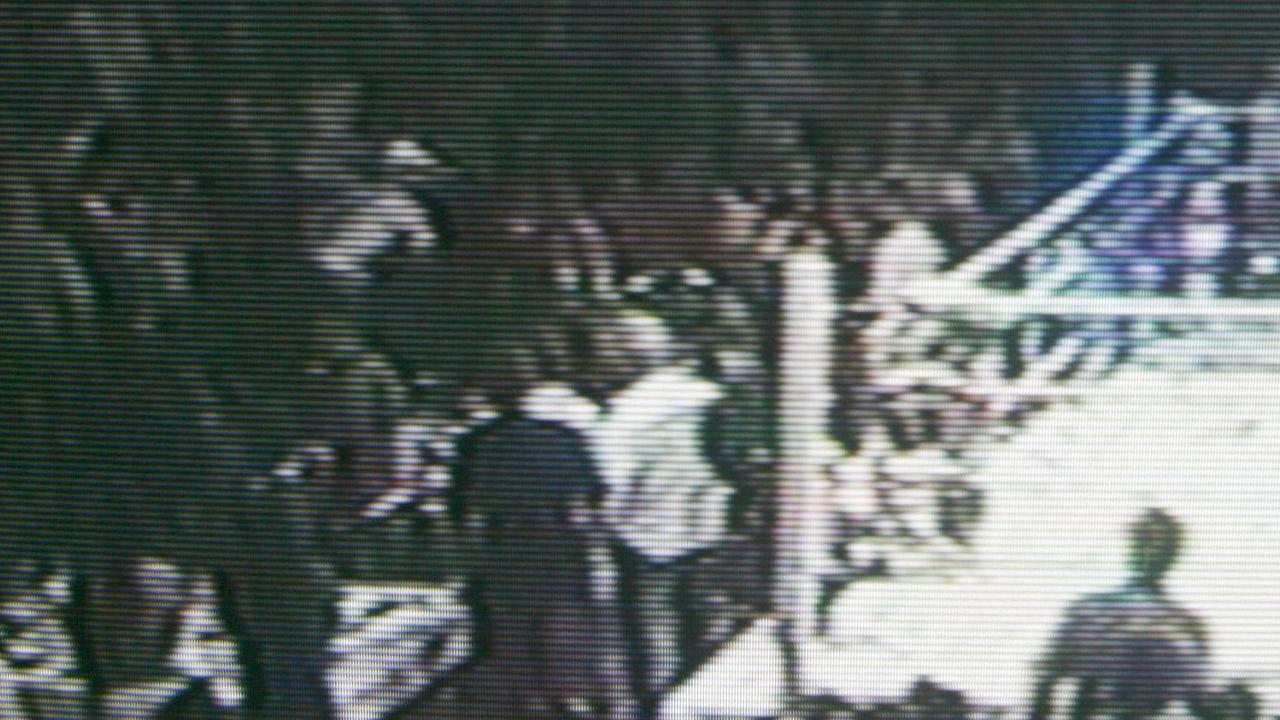 A still image from footage of the Ballroom Blitz. Picture: Channel 9/Jono Searle