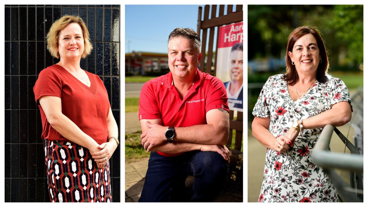 Battle for Thuringowa: (From left) KAP Julieanne Wood, Labor Aaron Harper, LNP Natalie Marr.