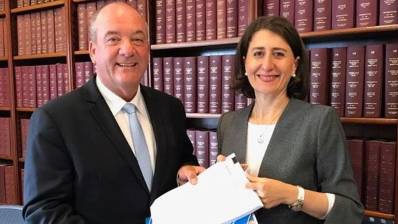 The disgraced MP with Gladys Berejiklian.