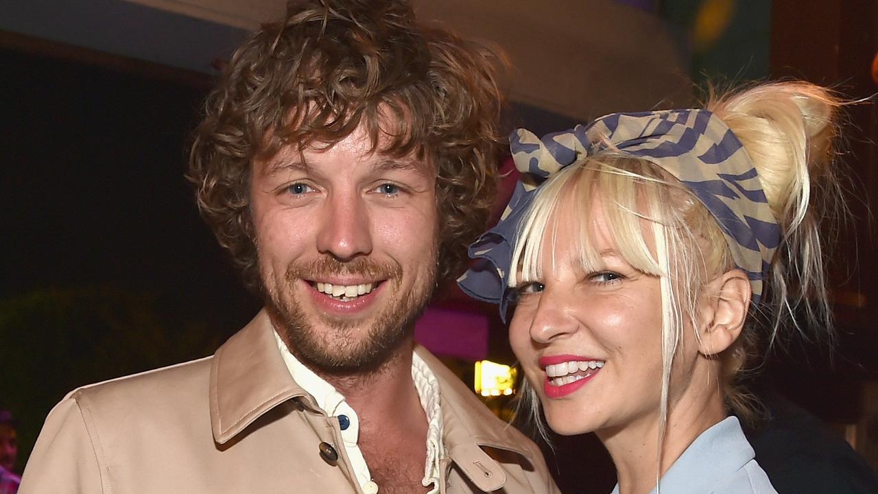 Sia with former husband Erik Anders Lang... Friends urged to her make her own film following the split. Picture: Getty Images