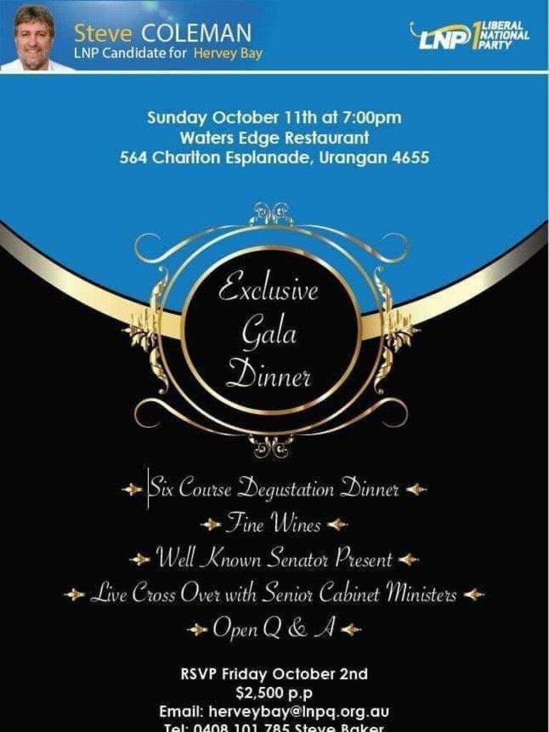 A copy of the invitation circulating social media.