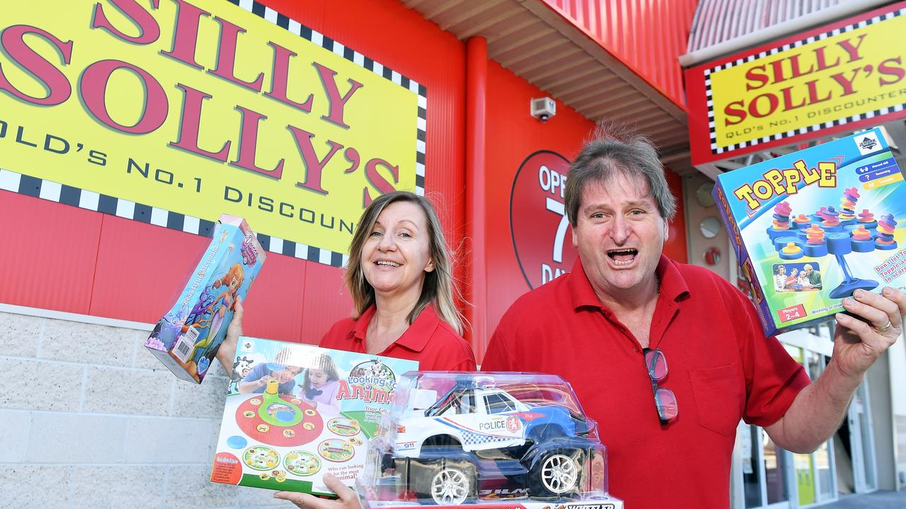 Silly Solly's owners Brett and Suzanne Granger are gearing up for a big day of trading at their new Sunshine Plaza store. Photo Patrick Woods / Sunshine Coast Daily.