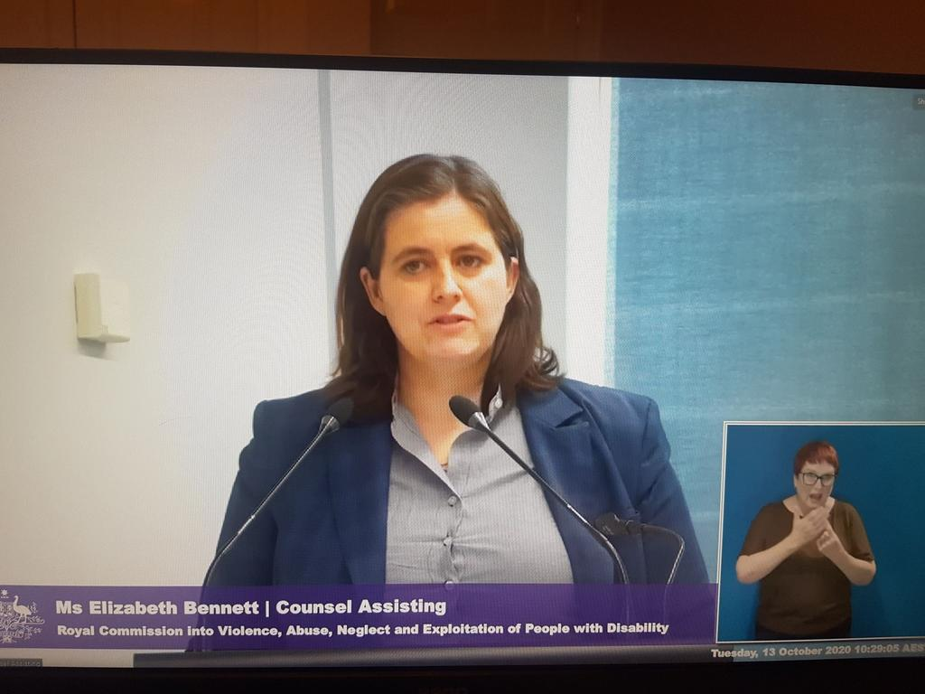 Elizabeth Bennett, counsel assisting the disability royal commission
