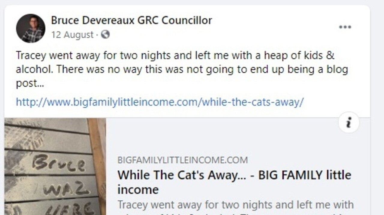 One of the posts at the heart of the complaint against Mr Devereaux.