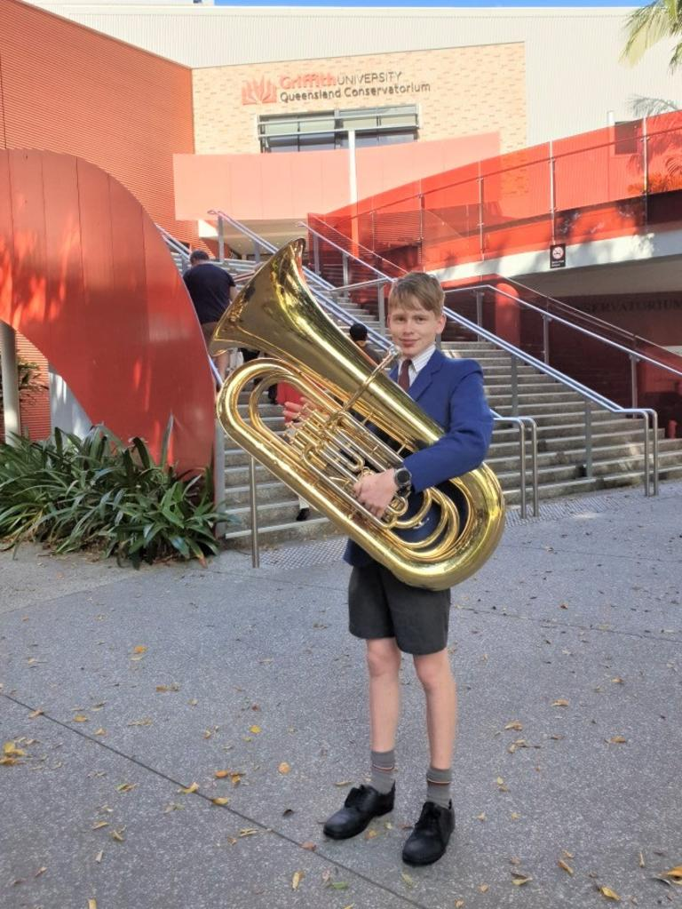 Emerald tuba player Drew Ferguson has joined Queensland's best young instrumentalists at Griffith University's Queensland Conservatorium of Music State Honours Ensemble Program (SHEP).