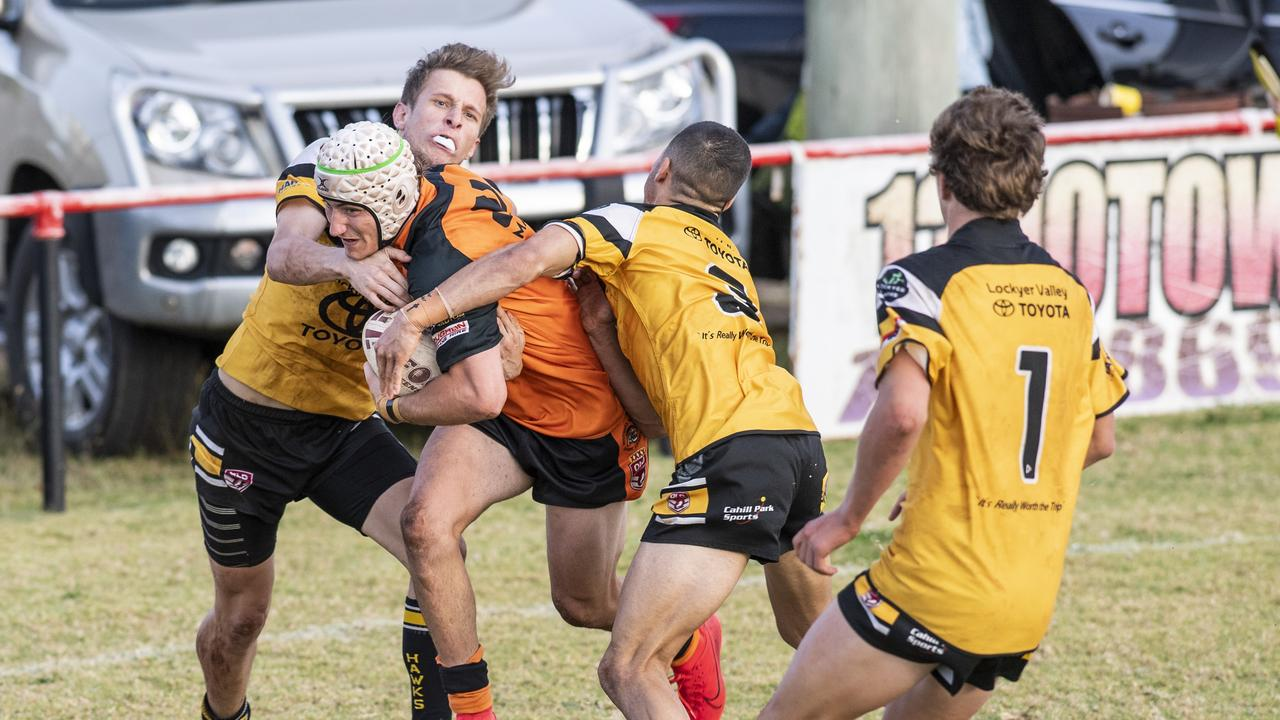 Souths and Gatton go to battle. Photo: Nev Madsen