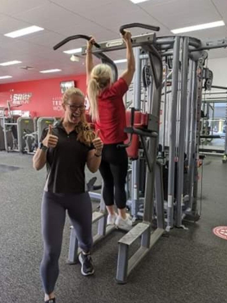 Sandie Judd and Rebeka Foley working out at Snap Fitness Lismore. Contributed: Snap Fitness Lismore.