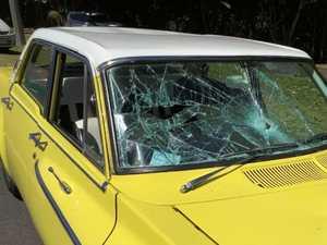 Man allegedly bashed, vintage car damaged in roadside attack