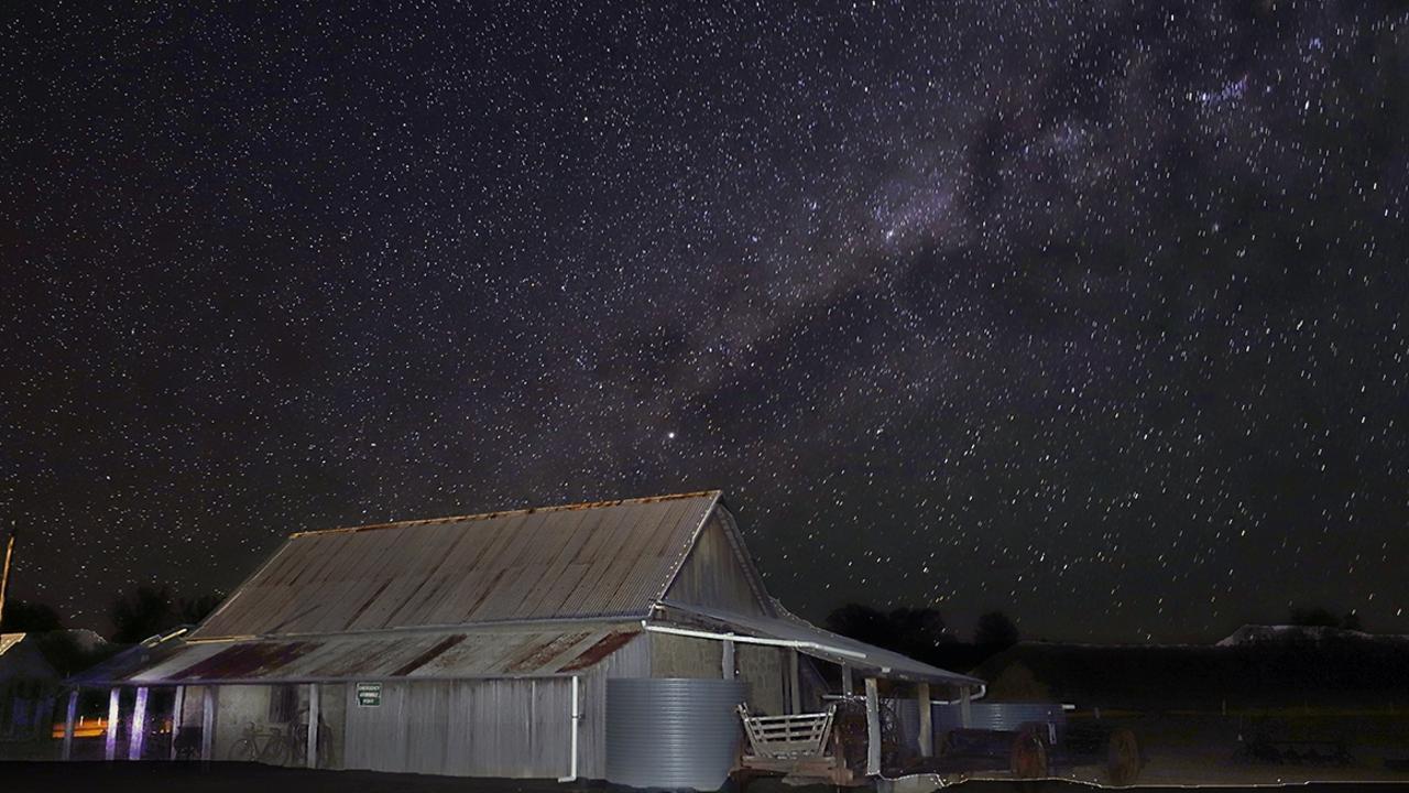 DARK SKY: Dark skies over Boondooma Homestead.