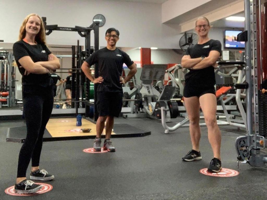 Erin Ryan, Rebeka Foley & Noah De Luzuriaga at Snap Fitness Lismore. Contributed: Snap Fitness Lismore.