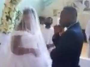 Wife crashes husband's 'secret' wedding
