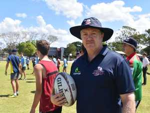Rugby drills Reds style on M'boro school sporting field