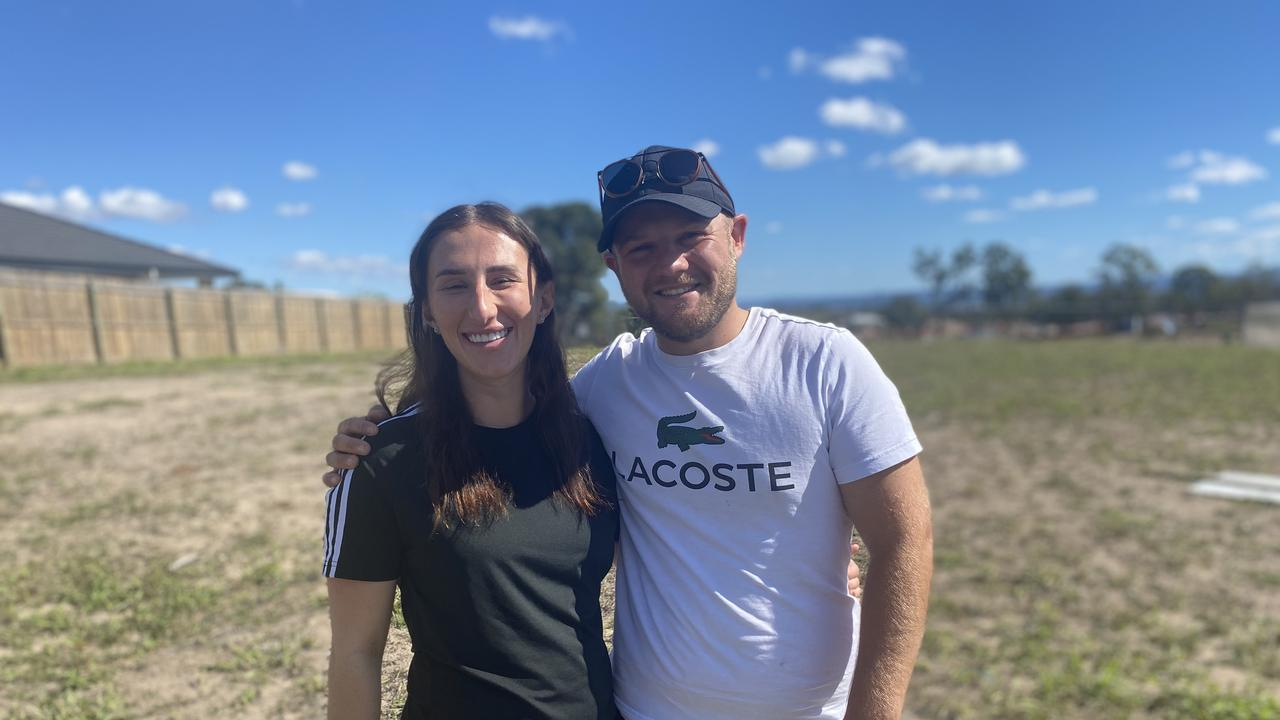 Rhiannon Terry and David Poulter moved from the Gold Coast to the Lockyer Valley during COVID for farm work.