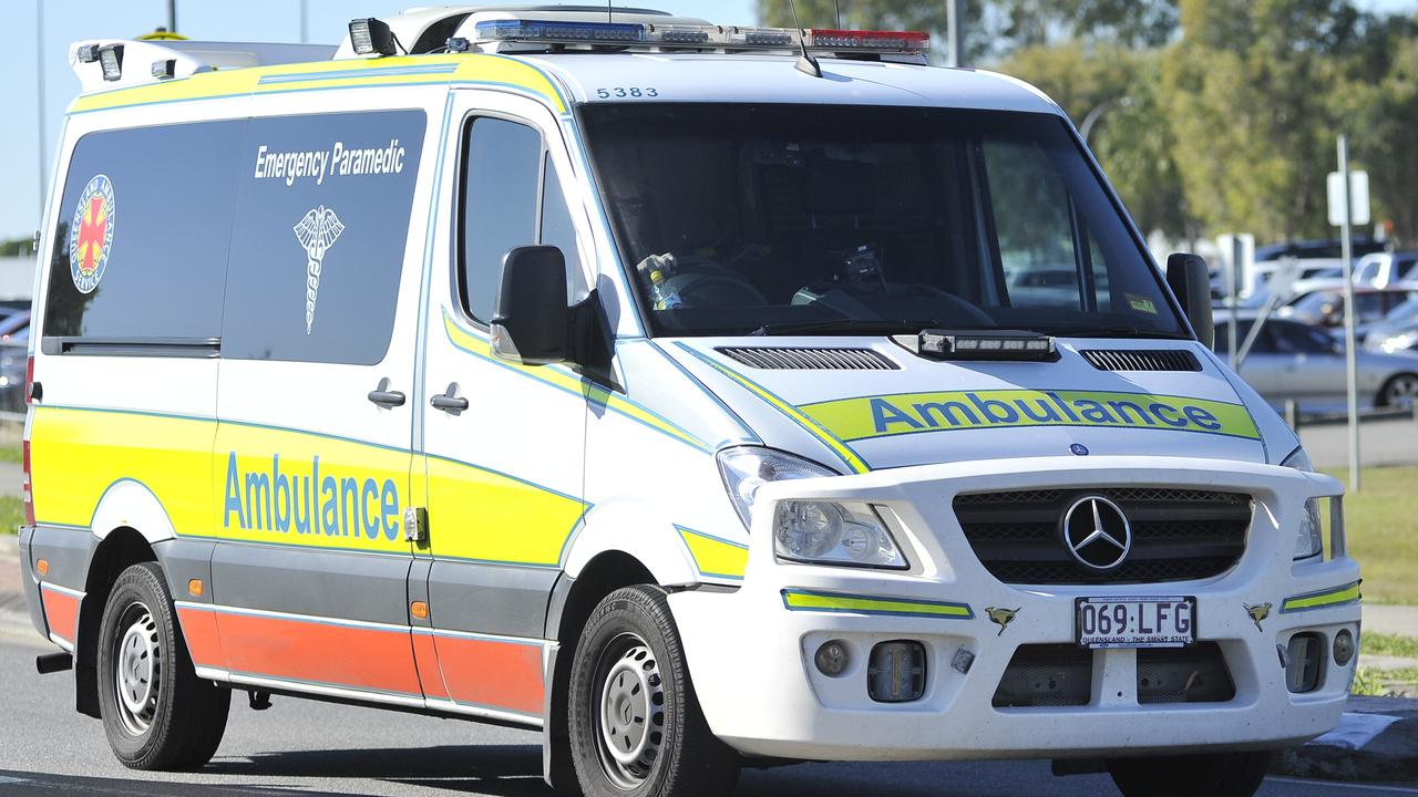 A person was injured in a motorcycle crash.