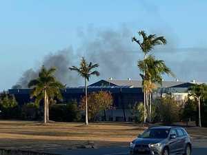 Black smoke billows from blaze near Mackay airport